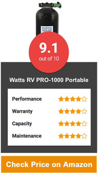 Watts RV PRO-1000 Portable Water Softener